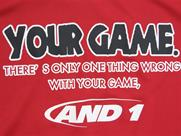 AND1 YOUR GAME TALK TEE(詳細画像)