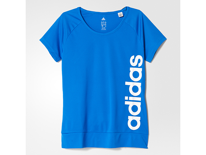 adidas Girls TRN CLIMALITE リニアロゴ Tシャツ
